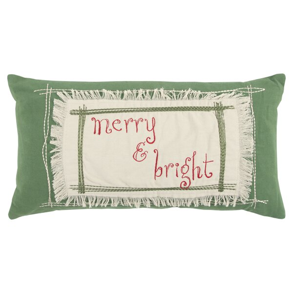 Merry and Bright 100% Cotton Throw Pillow by The Holiday Aisle